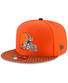 New Era Boys' Cleveland Browns 2017 Official Sideline 9FIFTY Snapback Cap
