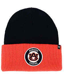 '47 Brand Auburn Tigers Ice Block Knit Hat