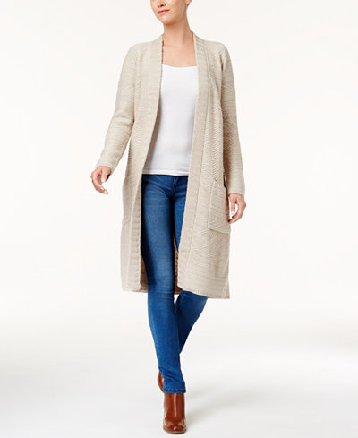 Style & Co Open-Front Duster Cardigan, Created for Macy's ...