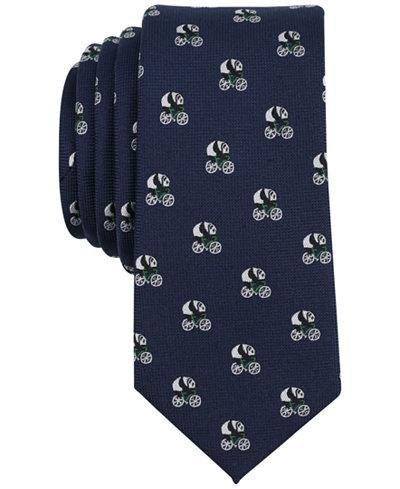Bar III Men's Panda Conversational Skinny Tie, Created for Macy's