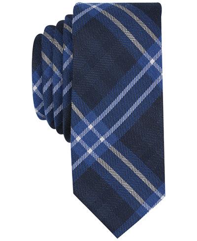 Bar III Men's Albina Plaid Skinny Tie, Created for Macy's