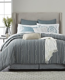 queen bedroom comforter sets. Martha Stewart Collection Rain Drop Stripe Reversible 10 Pc  Comforter Sets Created for Bed in a Bag and Queen King More Macy s