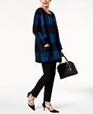 Alfani Printed Sweater Coat Created for Macys