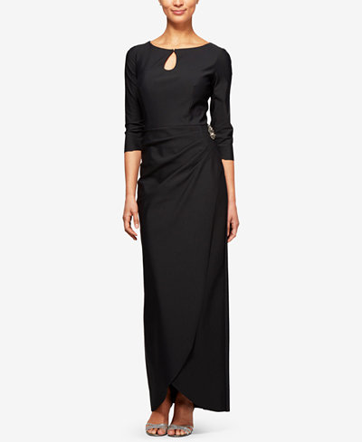 Alex Evenings Keyhole Embellished Column Gown