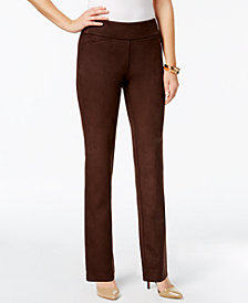 Charter Club Petite Cambridge Faux-Suede Pants, Created for Macy's