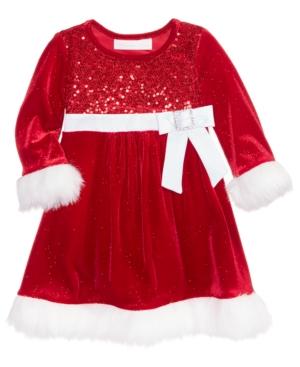 Bonnie Baby Velvet Santa Dress Baby Girls (024 months)
