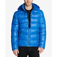 Deals on GUESS Mens Hooded Puffer Coat