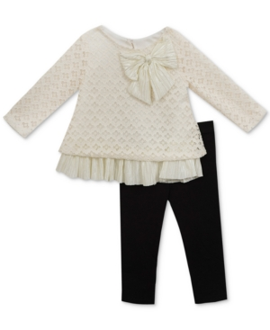 Rare Editions 2Pc Lace Tunic  Leggings Set Baby Girls (024 months)