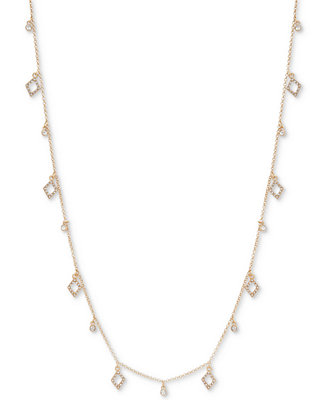 e6d67cb82ac Ivanka Trump Shaky Bead Crystal Pavé Long Statement Necklace - Fashion  Jewelry - Jewelry   Watches - Macy s