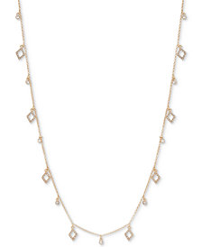 Ivanka Trump Shaky Bead Crystal Pavé Long Statement Necklace