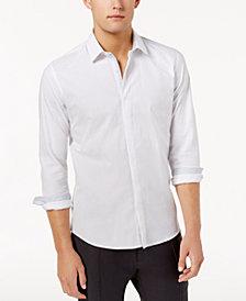 Ryan Seacrest Distinction™ Men's Hidden Placket Solid Textured Woven Shirt, Created for Macy's