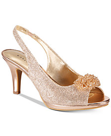 Karen Scott Breena Slingback Peep-Toe Pumps, Created For Macy's