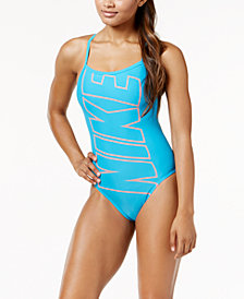 Nike Logo Racerback One-Piece Swimsuit