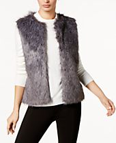 I.N.C. Knit & Faux Fur Vest, Created for Macy's