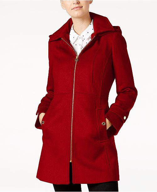 Michael Kors Hooded Stand-Collar Coat