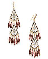I.N.C. Hematite-Tone Shaky Stone Chandelier Earrings, Created for Macy's
