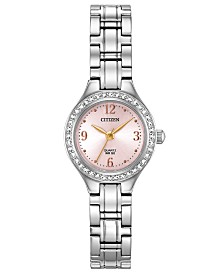 Citizen Women's Quartz Stainless Steel Bracelet Watch 22mm, Created for Macy's