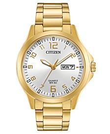 Men's Quartz Gold-Tone Stainless Steel Bracelet Watch 40mm, Created for Macy's