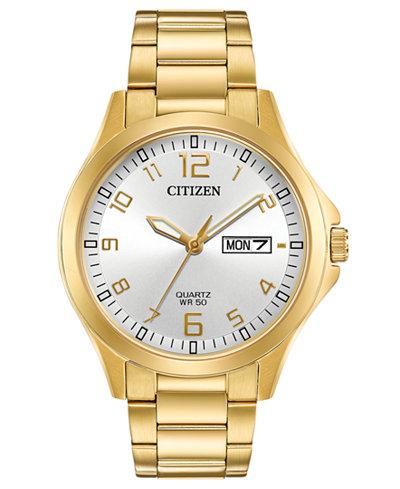 Citizen Men's Quartz Gold-Tone Stainless Steel Bracelet Watch 40mm, Created for Macy's