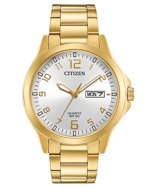 Citizen Men's Quartz Gold-Tone Stainless Steel Bracelet Watch 40mm, Created for Macy's