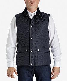 London Fog Men's Big & Tall Diamond Quilted Vest