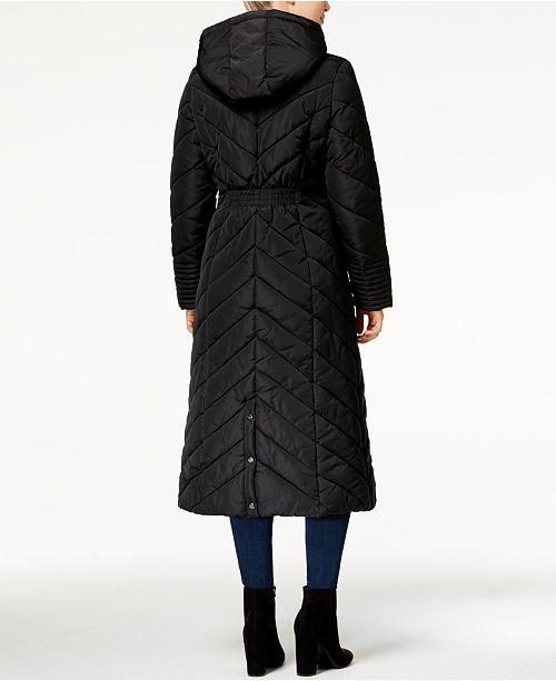 d91f355f6e Madden Girl Juniors  Chevron Maxi Puffer Coat   Reviews - Coats ...