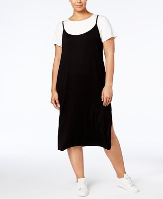 Calvin Klein Plus Size T-Shirt Slip Dress
