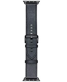 Smart Buddie Platinum Black Saffiano Leather Strap for 42mm Apple Watch®