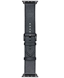 VogueStrap Smart Buddie Platinum Black Saffiano Leather Strap for 42mm Apple Watch®