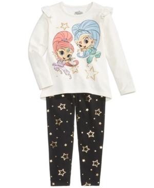 Nickelodeon 2Pc Shimmer  Shine LongSleeve TShirt  Leggings Set Little Girls (46X)