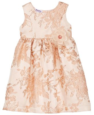 Blueberi Boulevard Floral Brocade Dress, Toddler Girls
