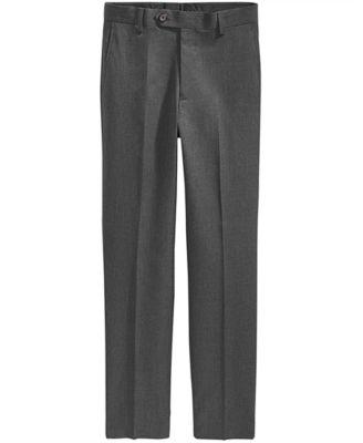 Solid Grey Suiting Pants, Big Boys