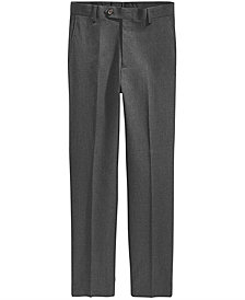 Lauren Ralph Lauren Solid Grey Suiting Pants, Big Boys Husky