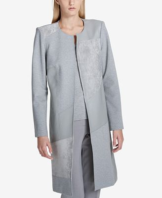 Calvin Klein Patchwork Open-Front Topper Jacket