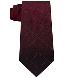 Kenneth Cole Reaction Men's Ombré Windowpane Check Silk Tie