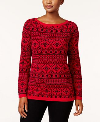 Karen Scott Cotton Fair-Isle Sweater, Created for Macy's ...