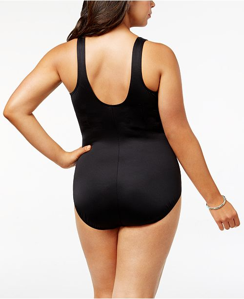 4d0bd64a5a Miraclesuit Temptress Plus Size Gulf Stream Ombr eacute  Tummy Control One-Piece  Swimsuit ...