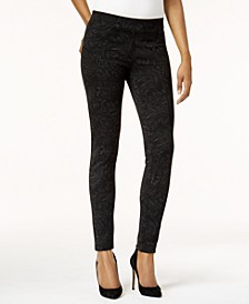 Petite Printed Seam-Front Leggings, Created for Macy's