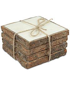 Thirstystone Bark-Edged Marble Coasters, Set of 4