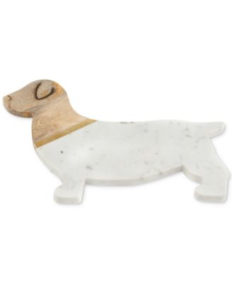 Dog Marble & Wood Serving Board