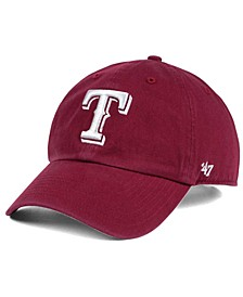 Texas Rangers Cardinal and White CLEAN UP Cap