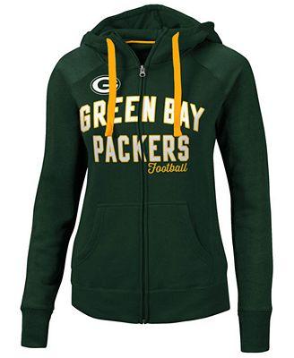 G-III Sports Women's Green Bay Packers Conference Full-Zip Jacket ...