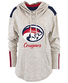 Pressbox Women's Houston Cougars Gibson Long Sleeve Hooded Sweatshirt