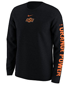 Nike Men's Oklahoma State Cowboys Fresh Trainer Hook Long Sleeve T-Shirt