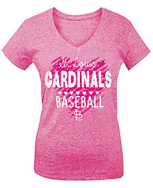 5th & Ocean St. Louis Cardinals Pink Hearts T-Shirt, Big Girls (4-16)