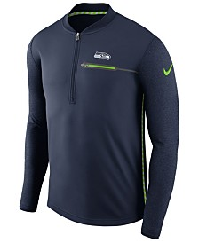 Nike Men's Seattle Seahawks Coaches Quarter-Zip Pullover
