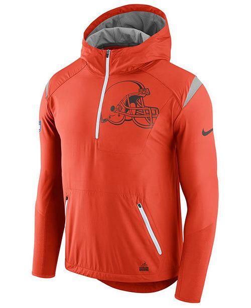 Nike Men s Cleveland Browns Lightweight Fly Rush Jacket - Sports Fan ... 8ea818699
