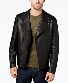 Daniel Hechter Paris Men's Leather Moto Jacket