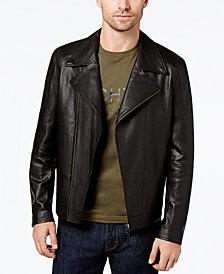 Daniel Hechter Paris Men's Leather Moto Jacket