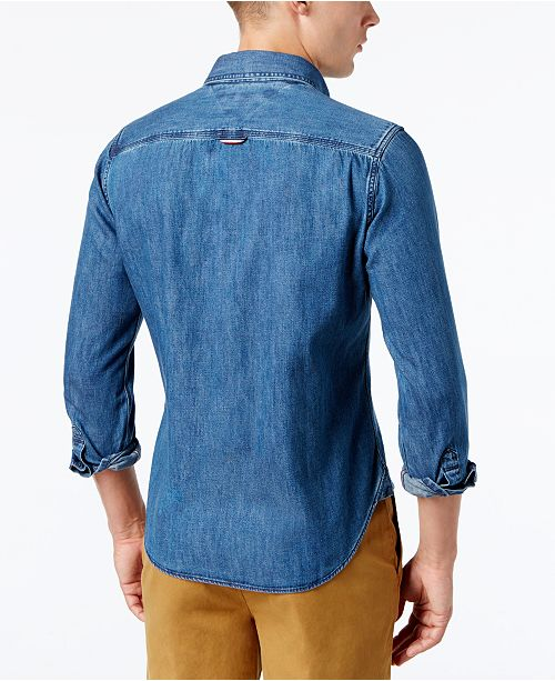 fa325ab2 Tommy Hilfiger Men's Classic Denim Shirt & Reviews - Casual Button ...